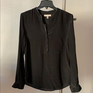 Banana Republic Black Silk Long Sleeve